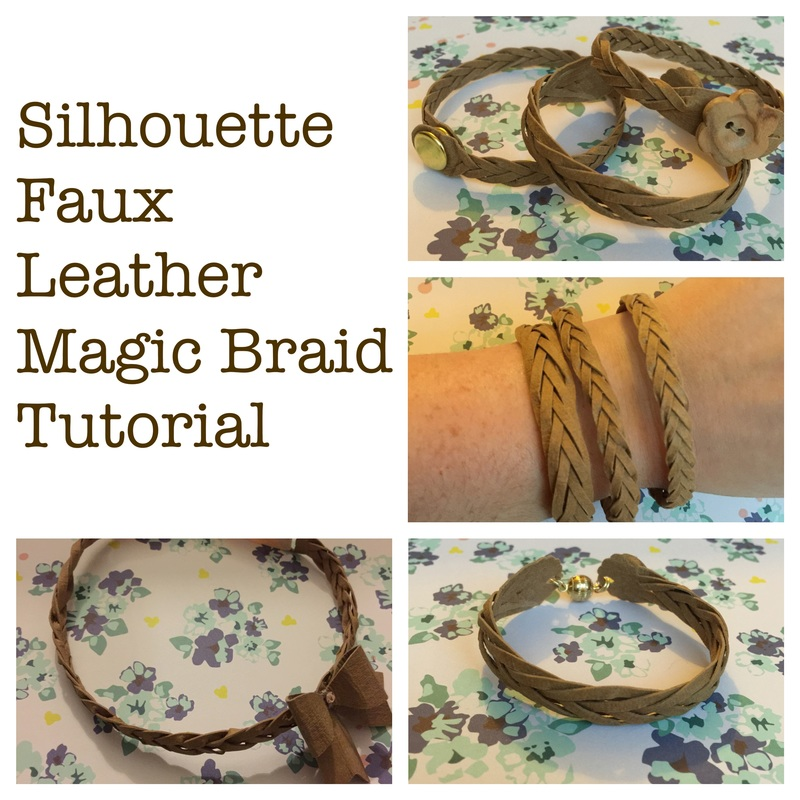 Silhouette UK Tutorial on Faux Leather Mystery Braid Bracelet By Nadine Muir (Craft Chatterbox Blog)