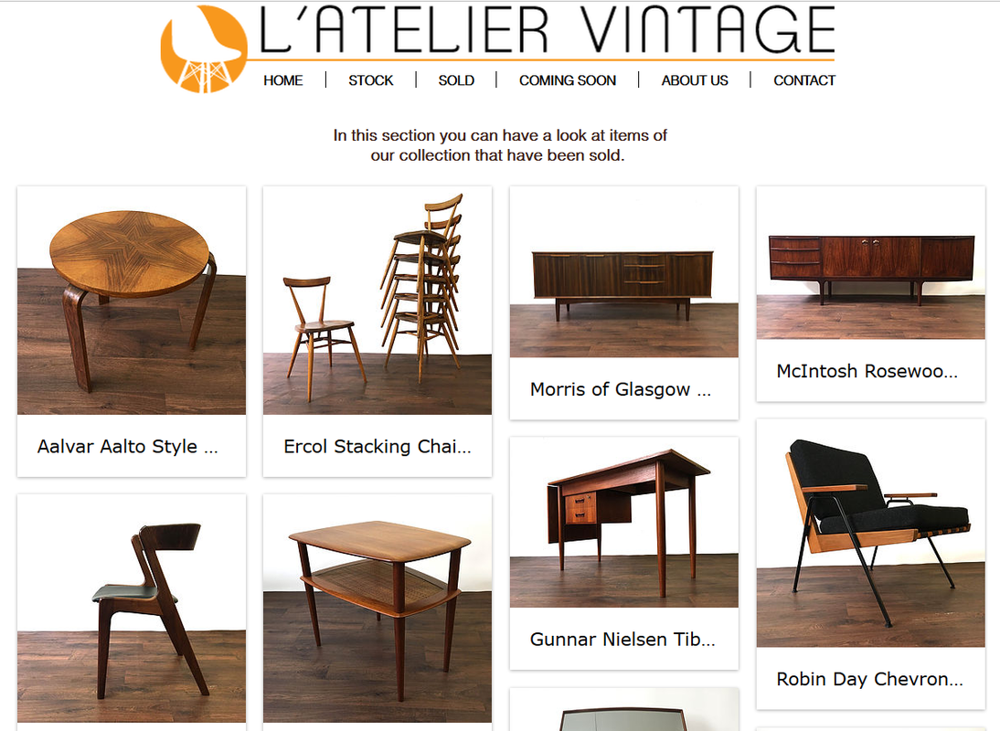 L'Atelier Vintage - Mid Century Modern shops in Edinburgh and Central Scotland