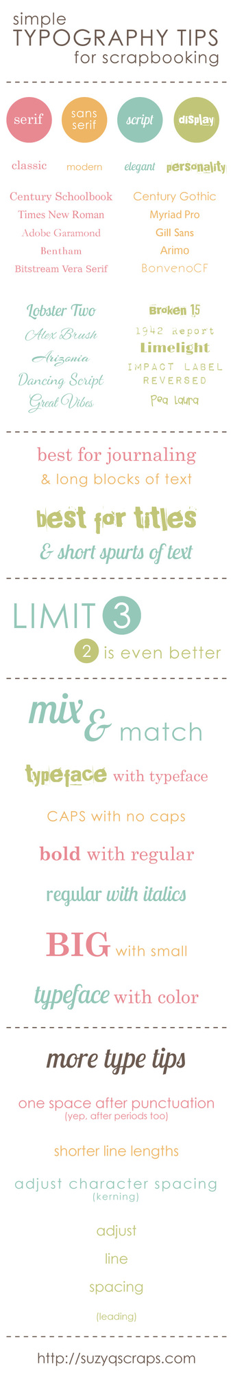 Typography tips on Craft Chatterbox Blog