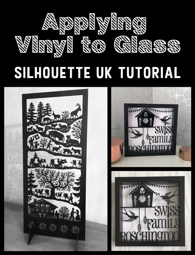 Applying Vinyl to Glass tutorial by Craft Chatterbox for Silhouette UK Blog