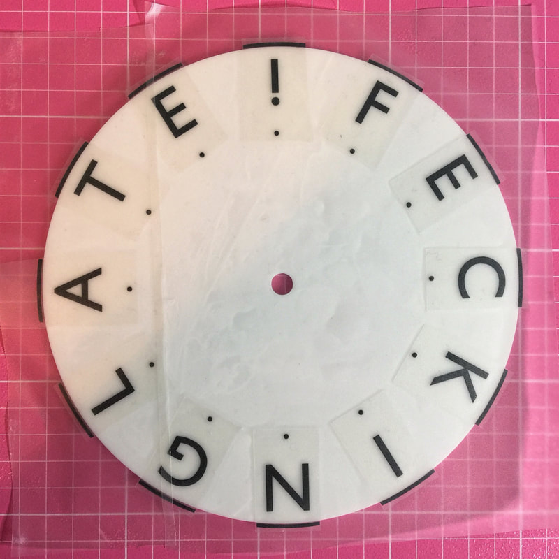 How to save vinyl and reduce waste from Craft Chatterbox blog.  Tip number ten, my clock with vinyl applied using my minimal wastage mirror print out hack