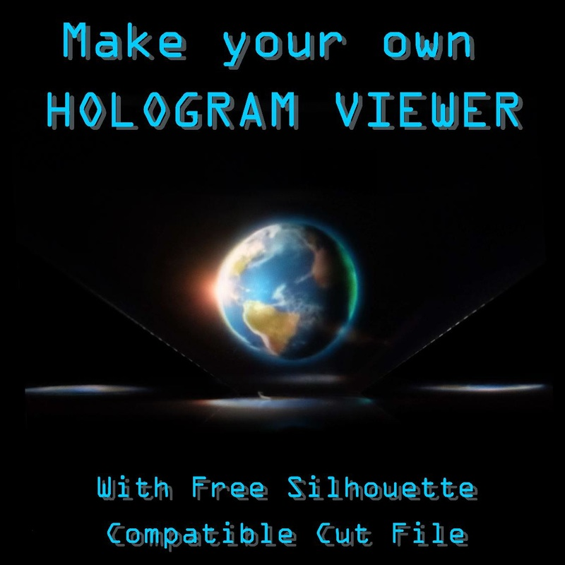 Make a Hologram Viewer with your Silhouette Cameo, Tutorial by Nadine Muir for Silhouette UK including free Cut File
