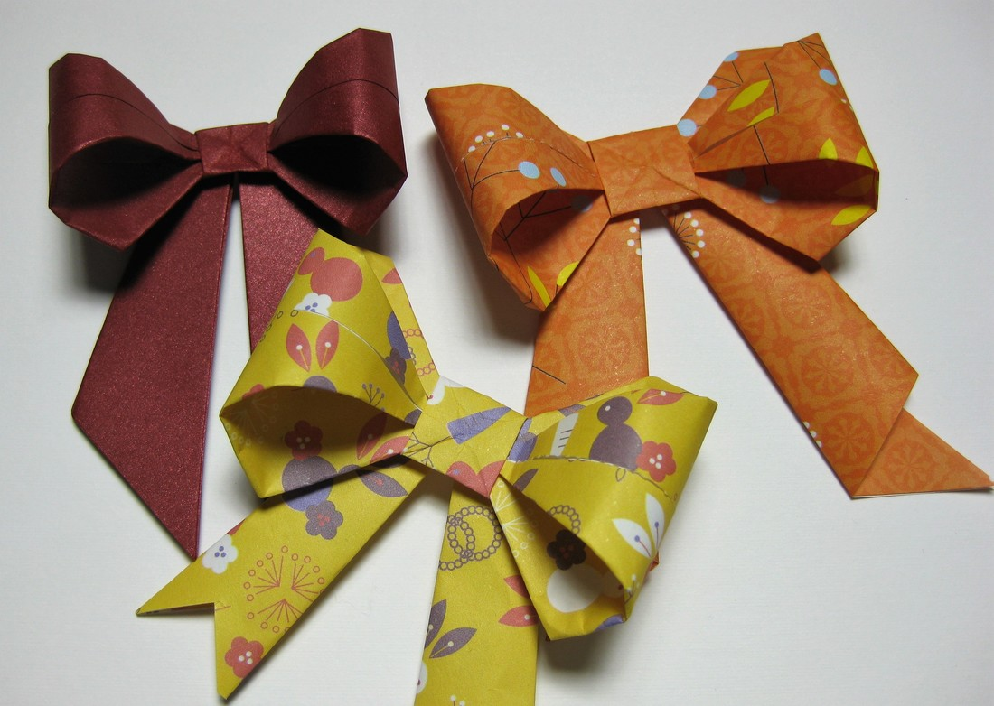 Origami bows made by Craft Chatterbox for blog post all about bows