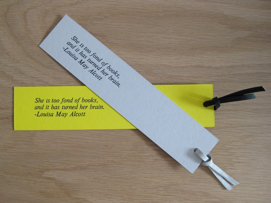 Letterpress bookmark using Adana press at workshop by Dot and the Line in Edinburgh