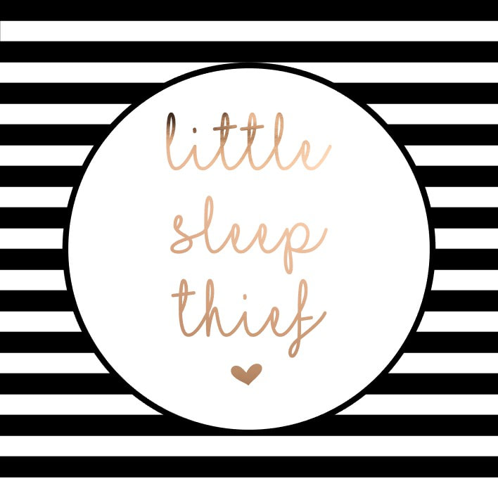Free PDF printable by Craft Chatterbox.  Little Sleep Thief foiling file.