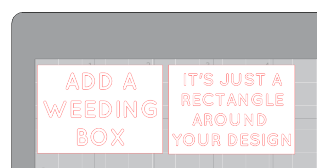 How to save vinyl and reduce waste from Craft Chatterbox blog.  Tip number two, add a weeding box